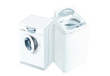Top Load Washer and Front Load Washer 3d render