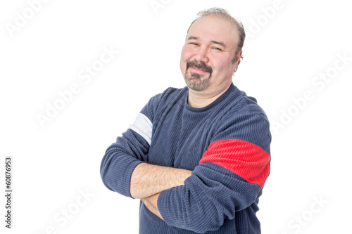 Portrait of a friendly balding mature man