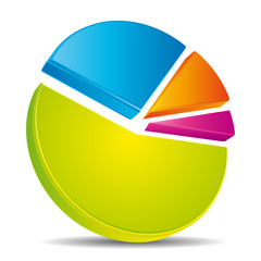 Colorful circular diagram. Statistics icon.
