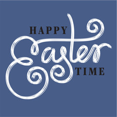 happy easter hand lettering hand calligraphy