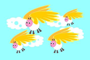 Pecore con le ali