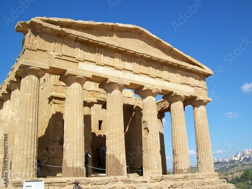 Ancient Greek temples in Sicilia ,Italy