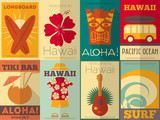 Retro Hawaii posters collection - 60878760