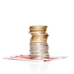 Geldstapel auf Geldschein