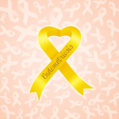 Yellow ribbon for Endometriosis