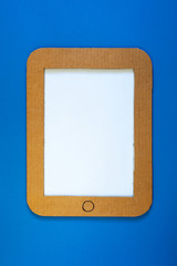 A concept illustration of tablet pc with blank screen