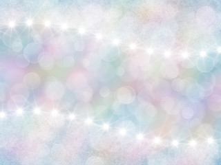 Abstract pastel rainbow background with boke and stars