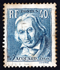 Postage stamp France 1934 Joseph Marie Jacquard, Inventor