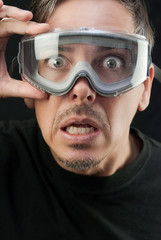 Man In Goggles