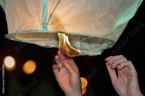 Chinese kongmin light lantern launch