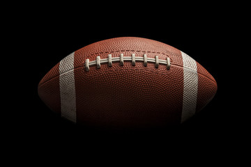 Isolated american football ball