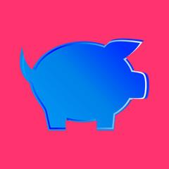 Niebieska świnka wektor