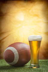 Beer and american football ball