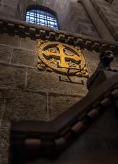 Via Crucis Signal in the Santiago de Compostela Cathedral