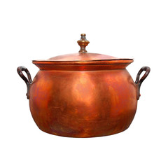 Bronze kettle. Vintage handmade product.
