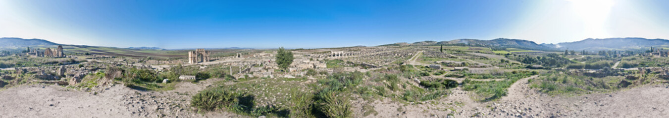 General view of Volubilis at Morocco