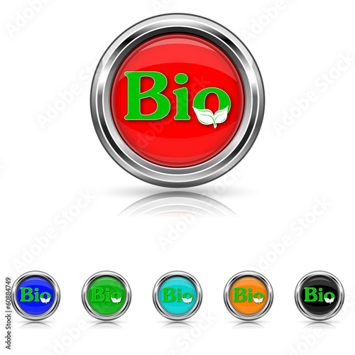 Bio icon - six colours set