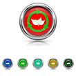 Recycle arrows icon - six colours set
