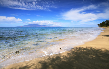 Dt. Fleming beach in west Maui