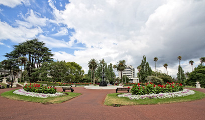 Park with fontain