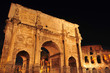 Arch of Constantine and Coliseum in Rome, Italy