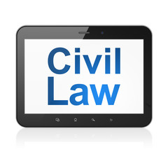 Law concept: Civil Law on tablet pc computer