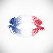 Kussmund Abdruck Frankreich