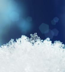 Snow crystals snowfall winter