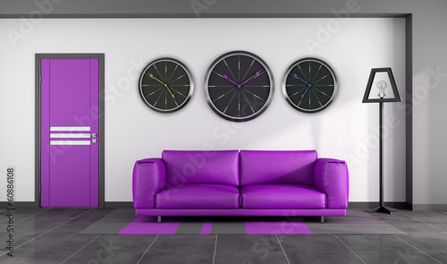 Modern purple interior