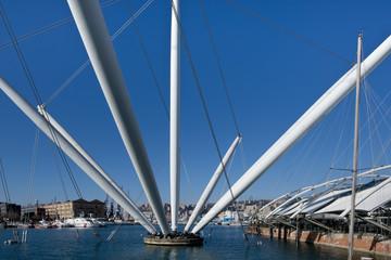 The Bigo in Ancient Harbour of Genoa