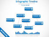 INFOGRAPHIC TIMELINE GRAPHIC BLUE