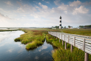 Bodie Island Lighthouse Summer Scenic Landscape