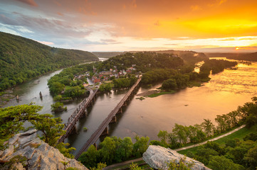 Harpers Ferry National Historic Park Sunset River Confluence