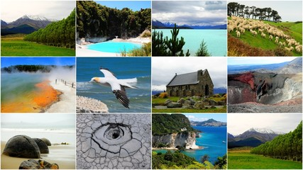 New Zealand collage