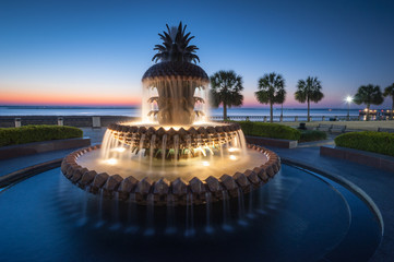 Charleston South Carolina Pineapple Fountain