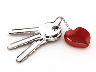 Keys with Ring Heart