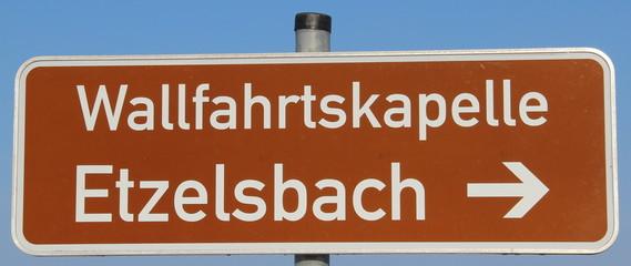 Hinweisschild Etzelsbach (Eichsfeld, Thüringen, Deutschland)