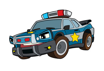 Colored car - illustration for the children