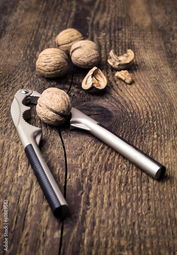 nutcracker and walnuts