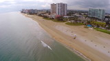 Aerial video of Pompano Beach Florida