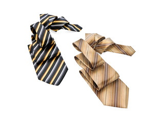 Two striped neckties folded in the fold