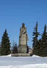 The biggest granite sculpture of Vladimir Lenin