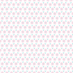 Light floral romantic vector pattern (tiling)