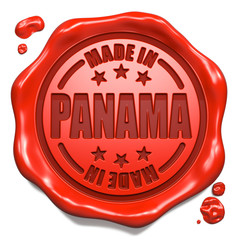 Made in Panama - Stamp on Red Wax Seal.