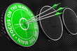Постер, плакат: Focus on the Main Slogan Green Target