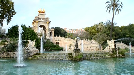 Fountain in Parc de la Ciutadella, in Barcelona, Spain