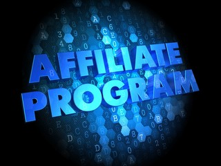 Affiliate Program on Digital Background.