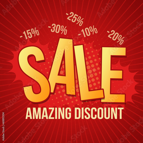 Sale, amazing discount design