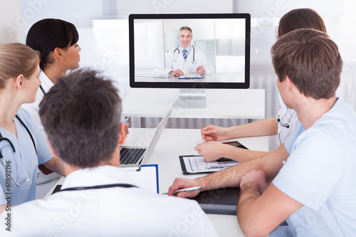 Doctors Watching Online Presentation