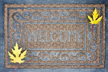 Welcome carpet, autumn, fall